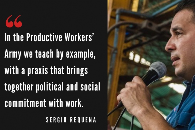 Sergio Requena of the Productive Workers' Army